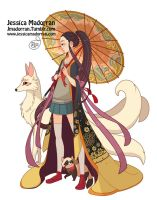 Character Design - Japan Inspired Character 20 by MeoMai