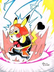 Markers #0007 Pikachu Libre by danimation2001