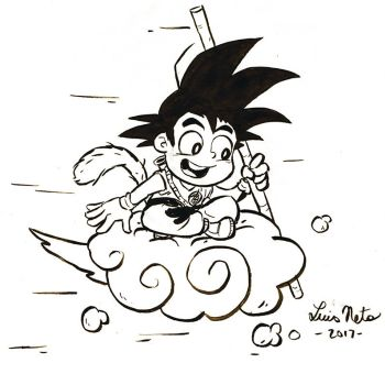 Inktober 2017 - Day-19 - Goku by Spidersaiyan
