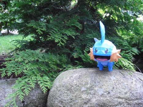 Mudkip papercraft by TimBauer92