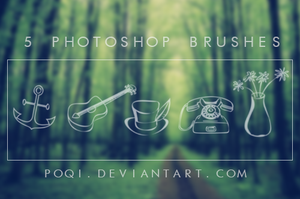 {5 Photoshop Brushes} by Poqi