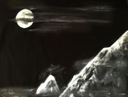 Mountain Moonlight by sciencefreako