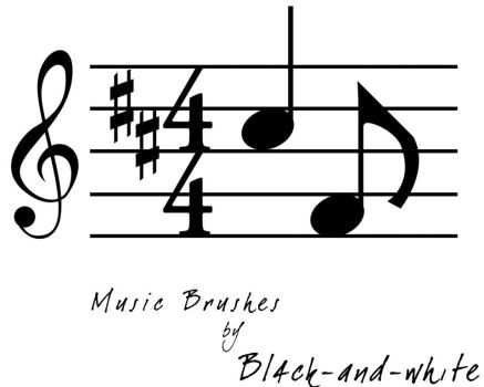 Music Brushes by Bl4ck-and-wh1te