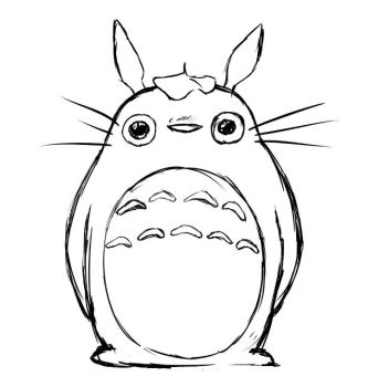 Mega ultra super hyper fast totoro sketch by The-Fox-Experiment