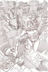 Wonder Woman Saves the Day Pencils by benttibisson