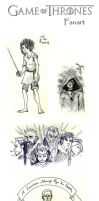 Game Of Thrones Doodles by Whynotfly