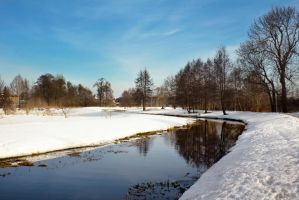 Snowy spring in Poland by paulinapl87
