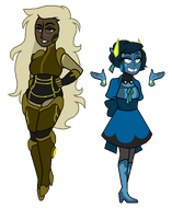 Smoky Quartz and Labradorite [Contest Entry] by DeepSeaHorror