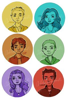 Teen Wolf Buttons by Artemismoon12