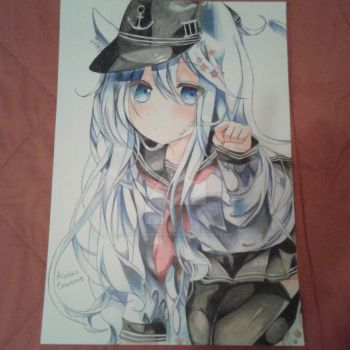 Hibiki-Kantai Collection commission by Alexiapinkdrawings