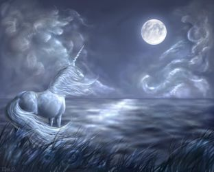 The Last Unicorn by Elsouille