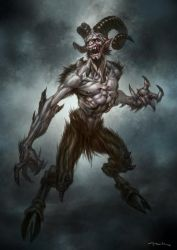 God of War III- Satyr by andyparkart