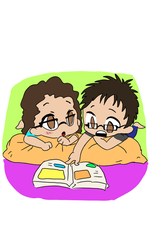 Chibis in love couple by Lariss55
