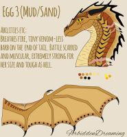 Egg 3 (Mud/Sand Hybrid)Sold to Oasis-The-SandNight by ForbiddenDreaming