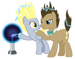 Doctor, Derpy, and Science! Vector (REMADE) by GreenMachine987