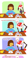 Papyrus and the Tooth Fairy by SirenFeather