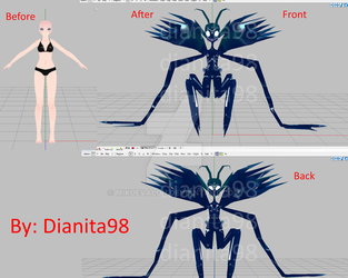 MMD OC: Demon Wip *Opinions needed* by dianita98