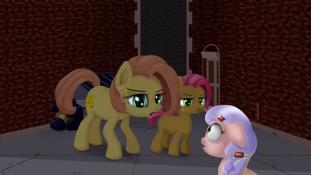 Somepony got a problem with my little sister? by MidwestBrony