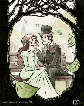 Ebenezer and Belle by jackiemakescomics