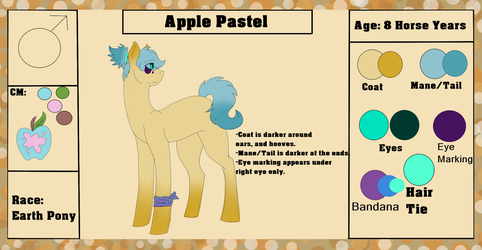 Apple Pastel {Ref. Sheet + Bio} by ScarletsFeed