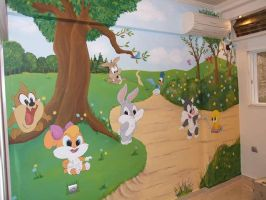 looney toons mural 1 by Theatricalarts