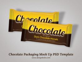 Free Chocolate Packaging Mock Up PSD by Designbolts