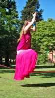 Me walking on a tight rope by KirstenStar