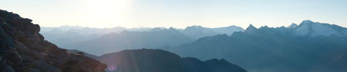 Mountain and Morning by inkoginko