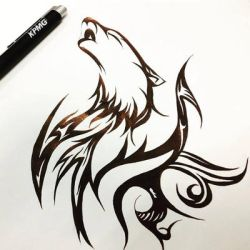 Wolf tribal by DrumArt