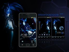 Galaxy S2 BlackRockShooter by garicosDesign