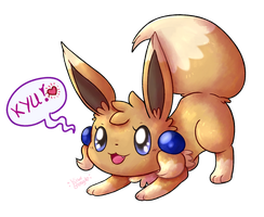 Playful little Eevee by KiwiBeagle