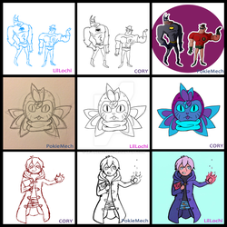 Drawing collab meme by Le-PineMarten
