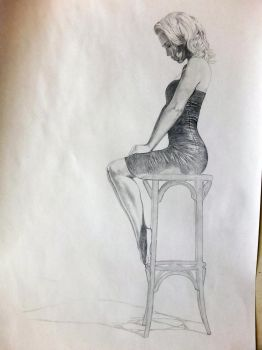Girl on a chair (wip) by Quncy