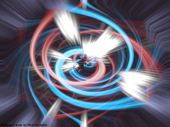 Energy Swirl 1 - Red + Blue by Nickle4aPickle