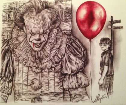 IT - Pennywise on the Prowl - Colored Version. by MeganzMonkeyBusiness