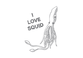 i love squid grey by baker2D