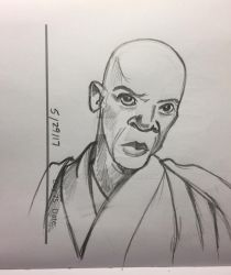 Mace Windu Sketch by spelleria