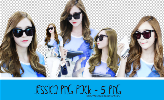 Pack PNG Jessica - 5 PNG by taeng_ss by taengss