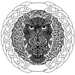 Celtic owl t-shirt design. by loveablemoggy