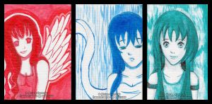 Colours of your mind - ACEO Cards by Hasentraene