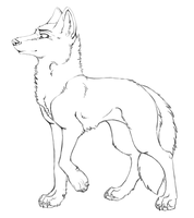 Wolf linart by nightspiritwing