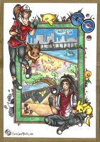 Pokemon Go ~ Traditional by MarieJaneWorks