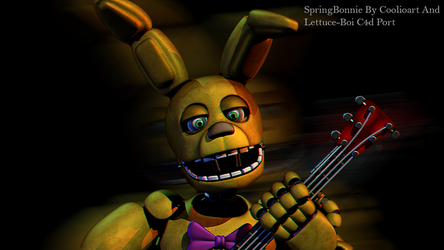 SpringBonnie By Coolioart And Lettuce-Boi C4d Port by Popi01234