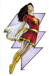 Mary Marvel Commission 2 by gattadonna