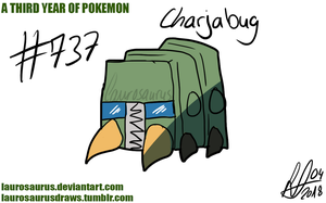 A third year of pokemon: #737 Charjabug