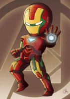 Chibi Iron Man by MymyArtzone