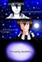 I'm sorry, brother - Jeff and Liu Special Drawing by Marie-Hoshiniwa