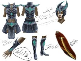 Ayleid Meteoric Armor Concept by Gizmodian