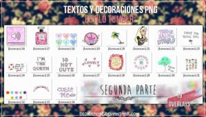 Tumblr overlays | 2nd part| Pack de png's by CeciiDeRose
