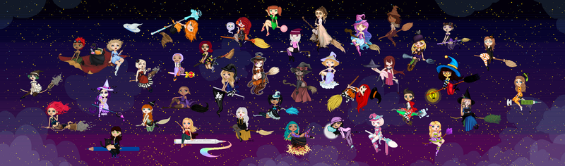 GIANT WITCH COLLAB (2013) by mouldyCat